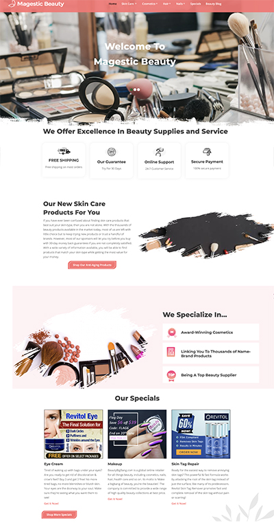 beauty supply website business for sale