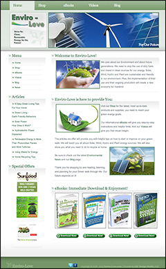 environmental website business for sale