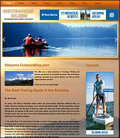fishing and hunting website business for sale
