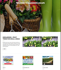 gardening website business for sale
