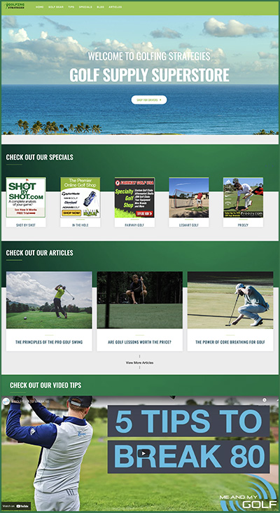 golf website business for sale