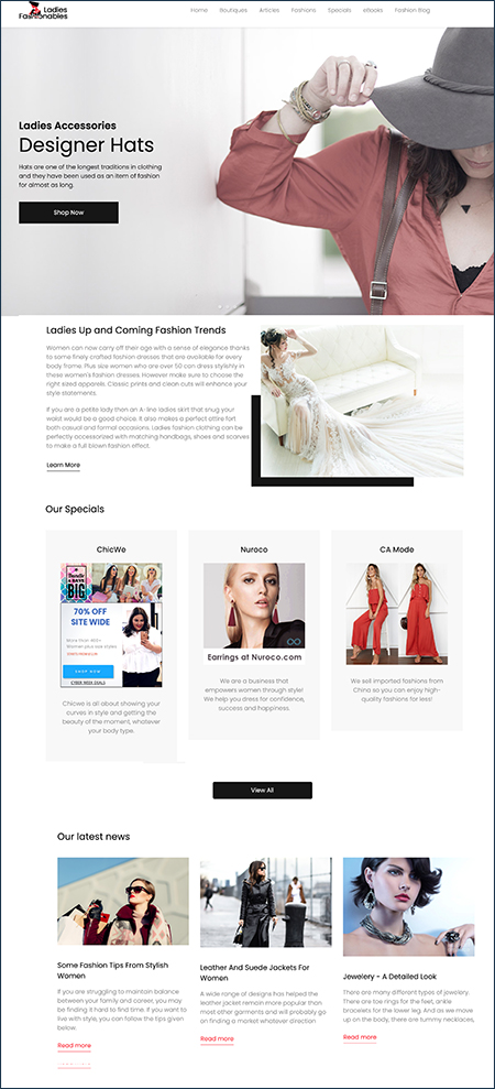 woman's mall website business for sale
