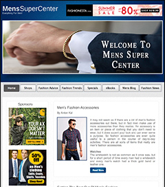 mens shopping mall  website business for sale