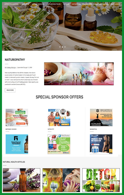 herbal remedies website business for sale