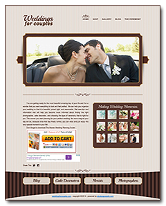 wedding  website business for sale